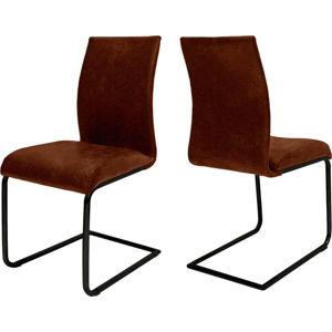 Rezavě hnědá jídelní židle Canett Clipper Jane