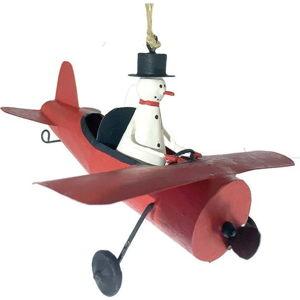 Vánoční závěsná ozdoba G-Bork Snowman in Airplane