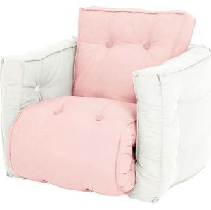 Dětské rozkládací křesílko Karup Design Mini Dice Pink//Creamy