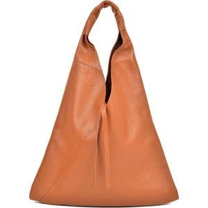 Hnědá kožená nákupní taška Anna Luchini