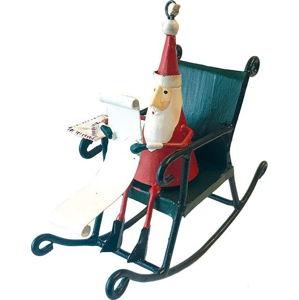 Vánoční závěsná ozdoba G-Bork Santa in Rocking Chair