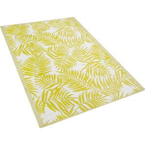 Žlutý venkovní koberec Monobeli Casma, 120 x 180 cm