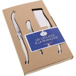 3dílný set bílých nožů na servírování sýrů Jean Dubost