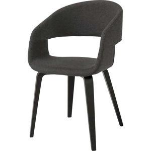 Tmavě šedá jídelní židle Interstil Nova
