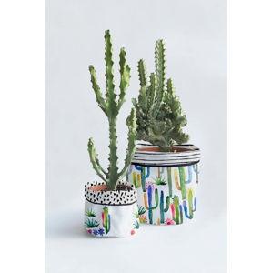 Sada 2 textilních květináčů Surdic Watercolor Cactus