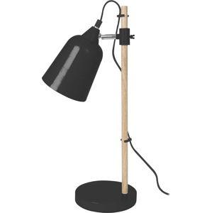 Černá stolní lampa Leitmotiv Wood