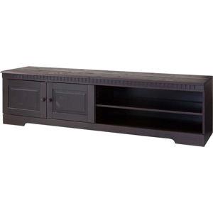 Tmavě hnědý TV stolek z borovicového dřeva Støraa Candice