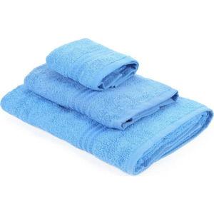 Sada 3 modrých ručníků z bavlny Rainbow