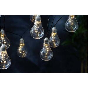 Bílý solární světelný LED řetěz vhodný do exteriéru Best Season Glow, 10 světýlek