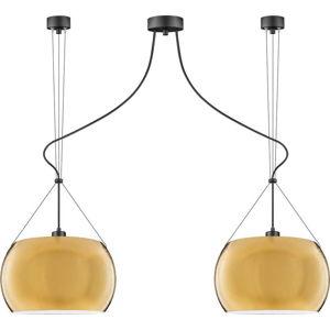 Závěsné svítidlo se 2 svítidly ve zlaté barvě Sotto Luce MYOO Elementary