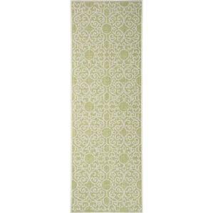Zeleno-béžový venkovní koberec Bougari Nebo, 70 x 200 cm