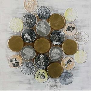 Obraz na plátně Versa Monedas, 120x60cm