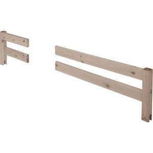 Hnědá přerušovaná bezpečnostní zábrana z borovicového dřeva k posteli Flexa Classic, délka197cm