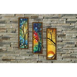 Dekorativní vícedílný obraz Four Seasons, 19x70 cm