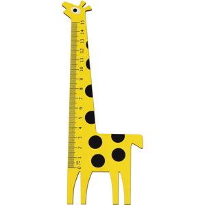 Dřevěné pravítko ve tvaru žirafy Rex London Yellow Giraffe