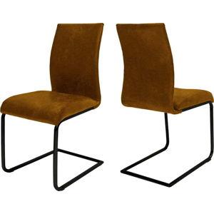 Koňakově hnědá jídelní židle Canett Clipper