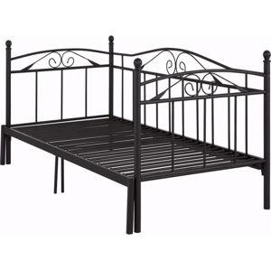 Černá rozkládací postel Støraa Bibi, 90x200cm