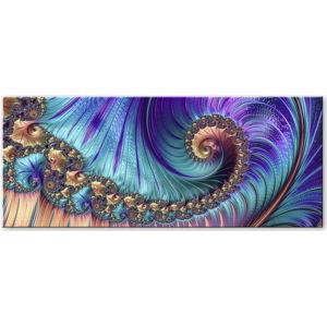 Obraz Styler Glas Fractal Violet, 50 x 125 cm
