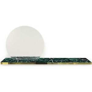 Nástěnná dekorativní polička se zrcadlem Velvet Atelier La Belle Julliette