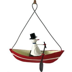Vánoční závěsná ozdoba G-Bork Snowman in Rowboat