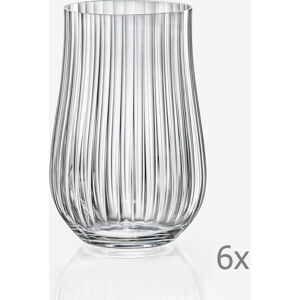 Sada 6 sklenic Crystalex Tulipa Optic, 450 ml