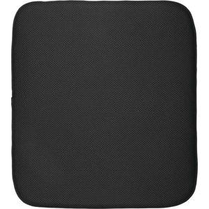 Černá podložka na umyté nádobí iDesign iDry,46x41cm