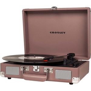 Růžový gramofón Crosley Cruiser Deluxe