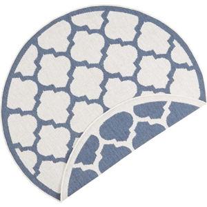 Modro-krémový venkovní koberec Bougari Palermo, ⌀ 200 cm