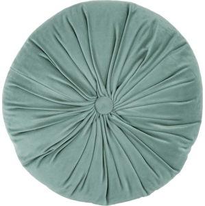 Zelený sametový dekorativní polštář Tiseco Home Studio Velvet,ø38cm