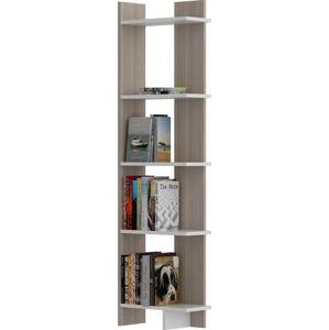 Světle hnědá knihovna s bílými detaily Als Cordoba White