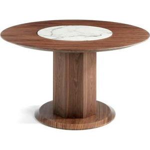 Jídelní stůl s podnožím z ořechového dřeva Ángel Cerdá Jasmine, ⌀ 120 cm