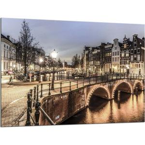 Obraz Styler Glasspik Amsterdam City, 70 x 100 cm