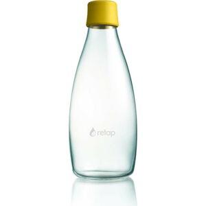 Tmavě žlutá skleněná lahev ReTap s doživotní zárukou, 800ml