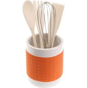Set 4 kuchyňských nástrojů se stojanem Versa Con Orange