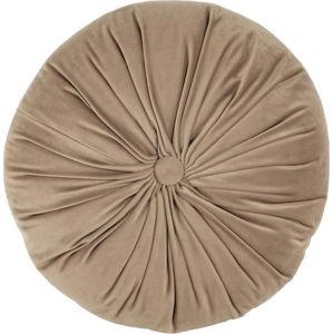 Hnědý sametový dekorativní polštář Tiseco Home Studio Velvet,ø38cm