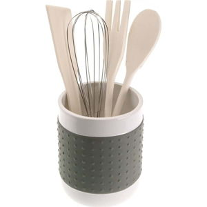 Set 4 šedých kuchyňských nástrojů se stojanem Versa Con
