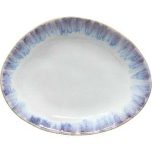 Bílo-modrý kameninový oválný talíř Costa Nova Brisa, ⌀ 20cm