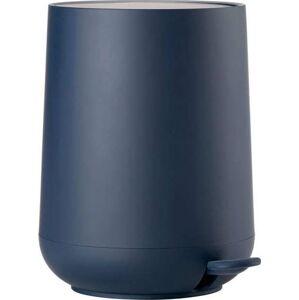 Tmavě modrý koupelnový pedálový koš Zone Nova,3l