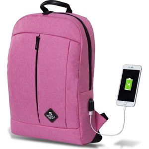 Fuchsiový batoh s USB portem My Valice GALAXY Smart Bag