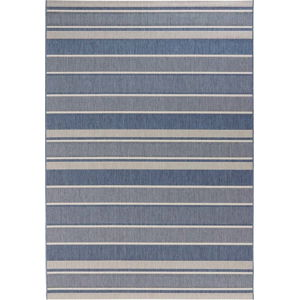 Modrý venkovní koberec Bougari Strap, 80x150cm