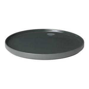Černý keramický mělký talíř Blomus Pilar