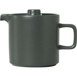 Tmavě šedá keramická čajová konvice Blomus Pilar,1l