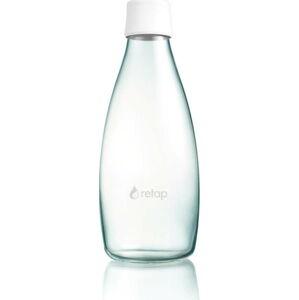 Bílá skleněná lahev ReTap s doživotní zárukou, 800ml