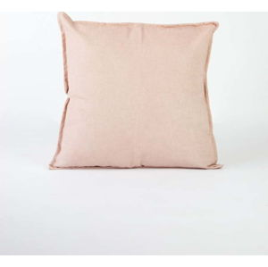 Světle růžový povlak na polštář s příměsí lnu Surdic, 45 x 45 cm