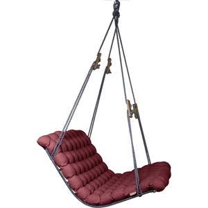 Červeno-fialová závěsná dvoumístná relaxační houpačka Linda Vrňáková Vikos