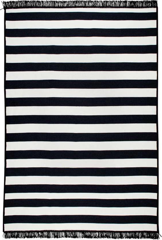 Černo-bílý oboustranný koberec Sentinus, 120 x 180 cm