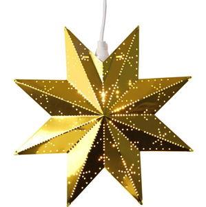 Zlatá světelná dekorace Best Season Classic Star, výška 28 cm