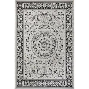 Černo-béžový venkovní koberec Ragami Prague, 80 x 150 cm