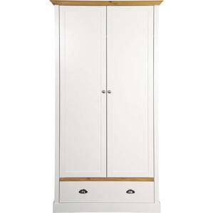 Krémově bílá šatní skříň Steens Sandringham, 192 x 104 cm