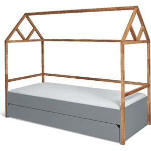 Šedá dětská postel BELLAMY Lotta,90x200cm